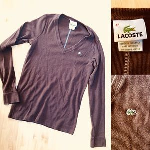 Brown Lacoste Sweater
