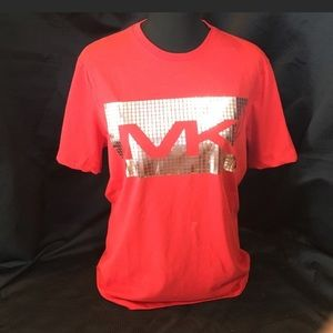 NWT Michael KORS red and silver t-shirt