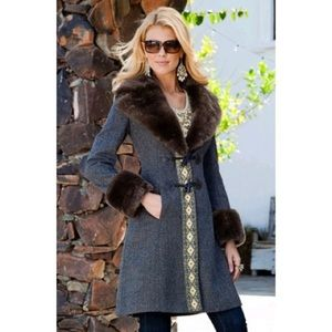 Boston Proper Glam Toggle Coat, NWOT
