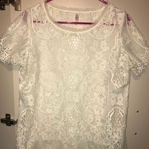 Tops - Sheer lace top