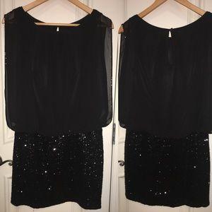 Party time 🎉Aidan Mattox black mini dresses