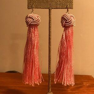 Jewelry - Pink silk tassel earrings