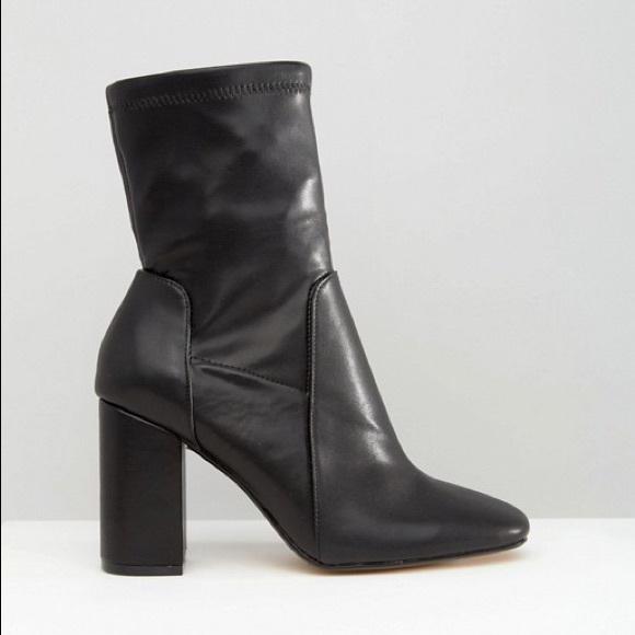 River Island Wide Fit Black Sock Boots