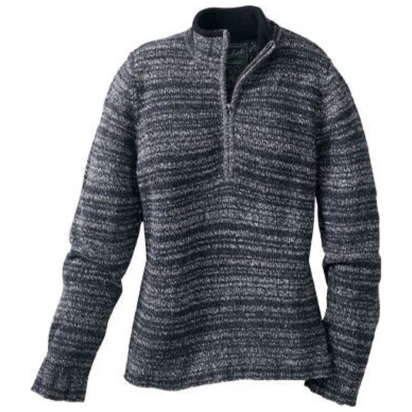 Woolrich Tanglewood 3/4 Zip Sweater Charcoal L V1