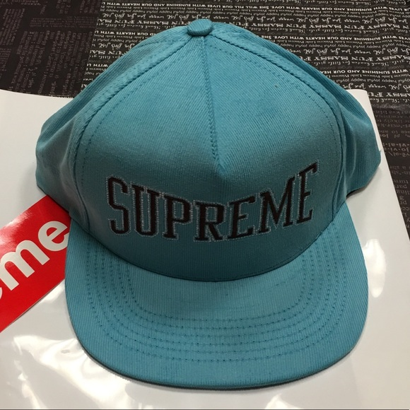 Supreme light blue dotted arc 5 panel hat 6f082e84f17