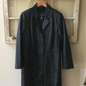 Jackets & Blazers - Women's Full length lined leather coat