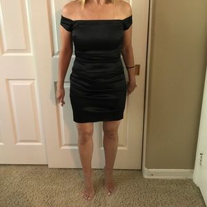Beautiful Black Rouched Cocktail Dress