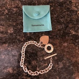 Authentic Return to Tiffany Heart Toggle Bracelet