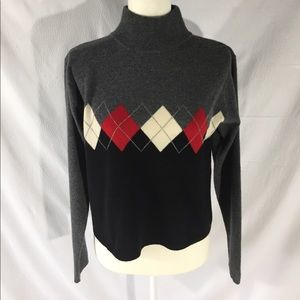 Lord & Taylor 2-Ply Cashmere Argyle Sweater