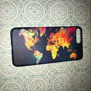 Accessories - Navy blue phone case with word map
