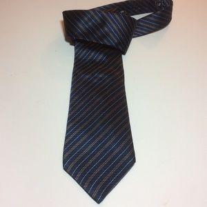 Burberry London Authentic Necktie Navy & Gold EUC