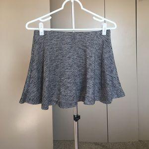 Zara grey circle mini skirt