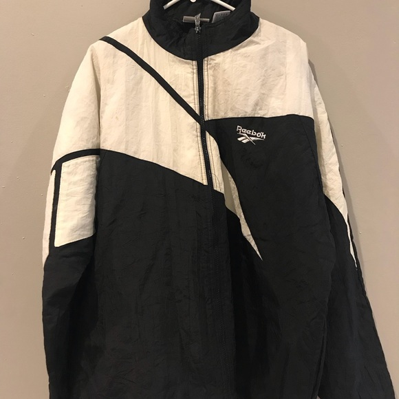def84977ff27d Vintage 90s Reebok Windbreaker Jacket big Logo USA