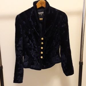 Chanel 'Romeo' jacket, crushed velvet. Vintage.