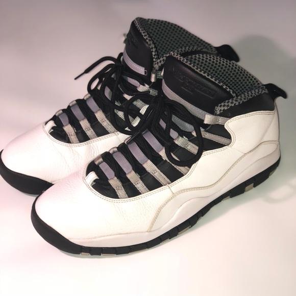 buy online fe550 86e13 9794c 38082  switzerland air jordan 10 steel white black grey sz 11.5 482d3  73cab