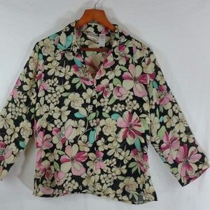 Floral Blouse 3/4 Sleeve