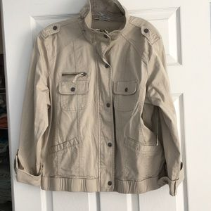 Style & Co New Khaki Cotton Jacket.  Size XL