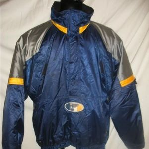St Louis Blues Starter Pull Over 1/4 Zip Jacket XL