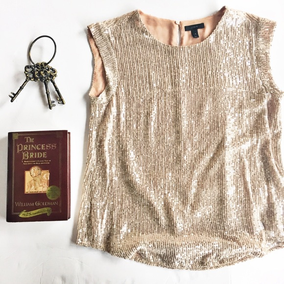 ac698d6152837d J. Crew Tops - J Crew Holiday Party Pink Blush Sequin Top 6