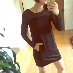 Kooples Black long sleeved Shift Dress
