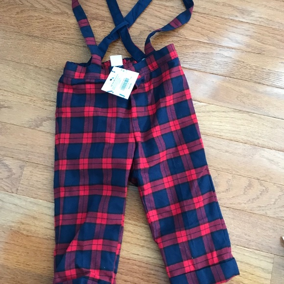 bef9f09de Janie and Jack Other - Janie and Jack Plaid Suspender Pant