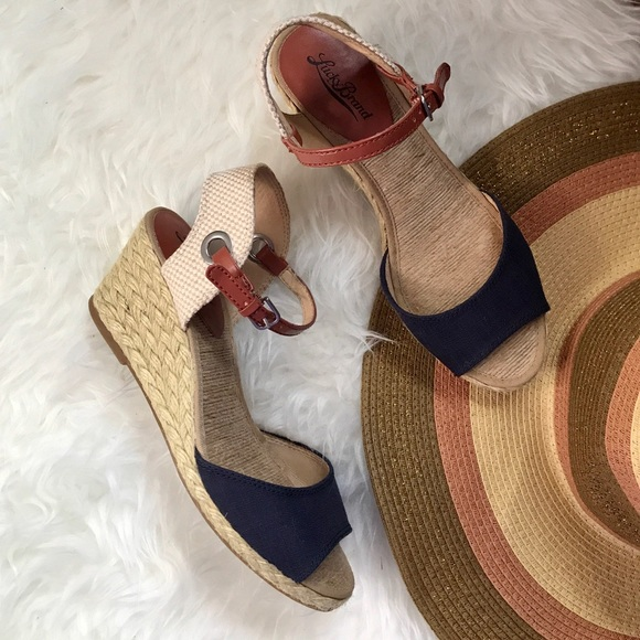 7657dbcdf21 Lucky Brand Shoes - Lucky Brand Navy Blue Espadrille Wedges