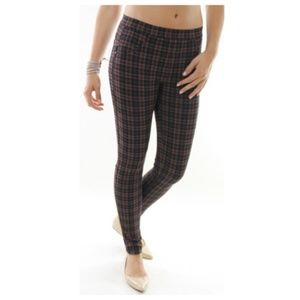 Sanctuary plaid leggings trouser pants