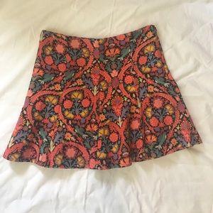 Zara woman skater skirt floral print XS