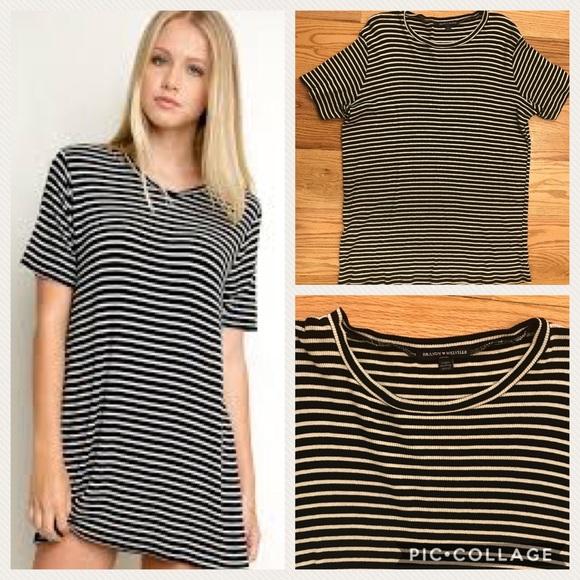 e9d3a64020 Brandy Melville Dresses & Skirts - Brandy Melville Luana Stripe Tunic Tee  Dress