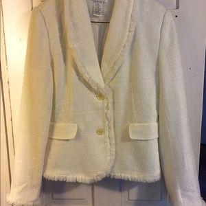 Beautiful sparkly cream blazer