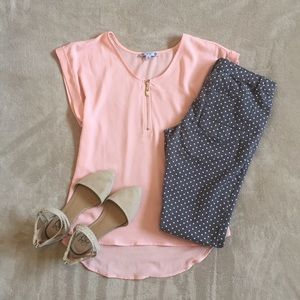 Grey polka dot pants