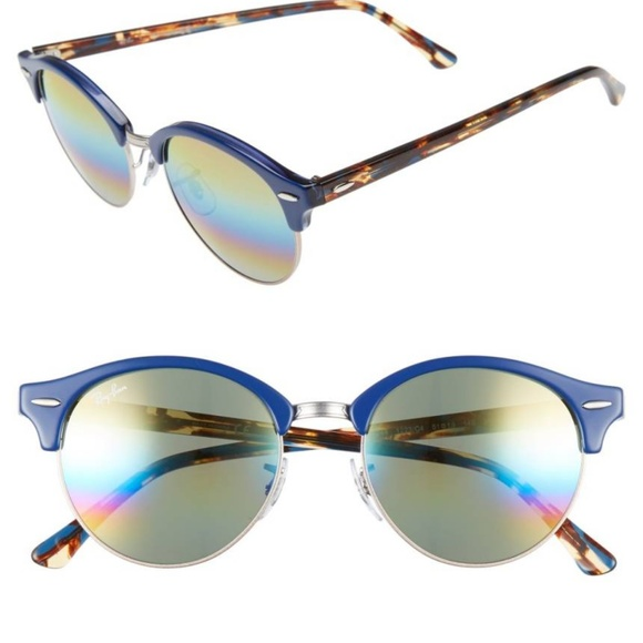 0b466a291bf RAY-BAN Clubround 51mm Round Sunglasses Rb 4246