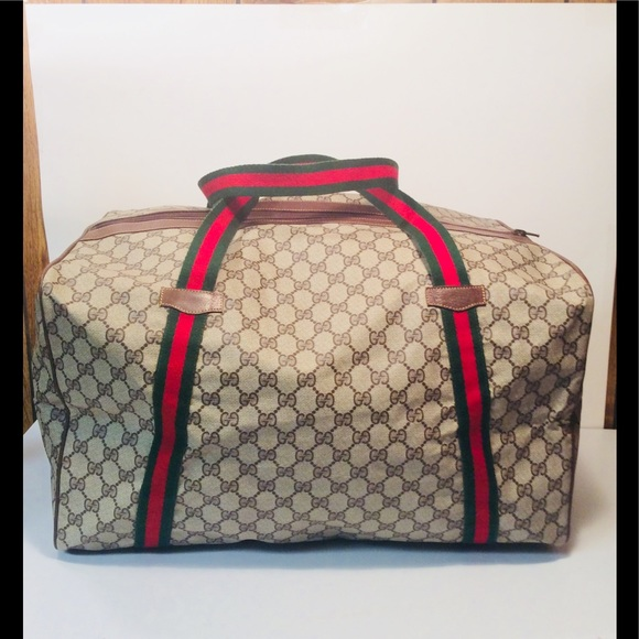 "96502cf9891 Gucci Handbags - Gucci ""GG"" Sherry Line Carry On Duffle Travel Bag"
