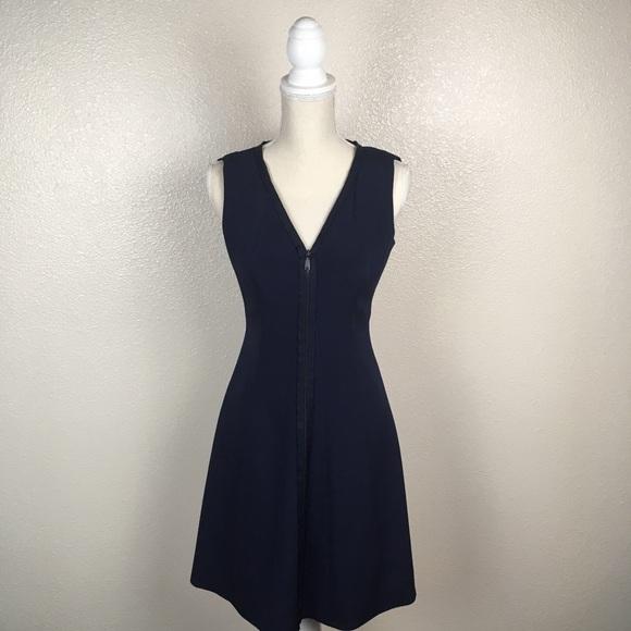 2055d1486698d7 Elie Tahari Dresses   Skirts - Elie Tahari Fit and Flare Zip Front Navy  Dress