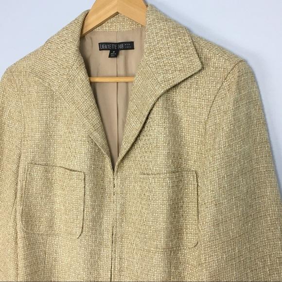 42d0412f6c45 Lafayette 148 New York Jackets & Coats   Lafayette 148 Gold Tweed ...
