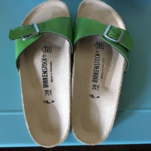 Birkenstock Madrid Sandal in Green - Size 8