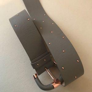 H&M Grey and Rose Gold Studded Belt