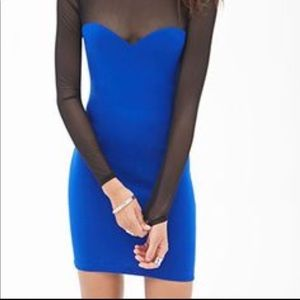Forever 21 Blue Bodycon dress size Large