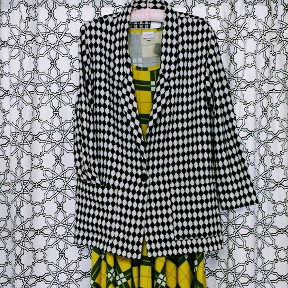Willow Ridge Jackets & Blazers - Vintage 90s Jacket Black & White Checkered
