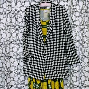 Willow Ridge Jackets & Coats - Vintage 90s Jacket Black & White Checkered