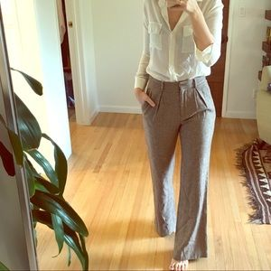 High Waisted Tweed Trousers by Steven Alan