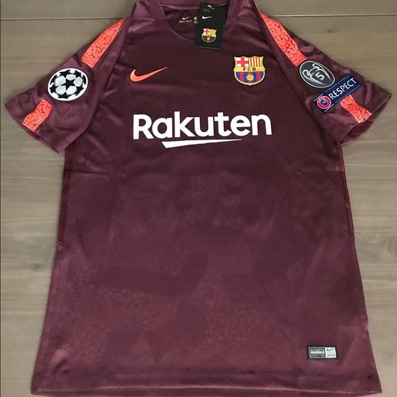 4ed602c35c6d8 Nike Shirts | Barcelona Messi 10 Away Burgundy 1718 Soccer | Poshmark