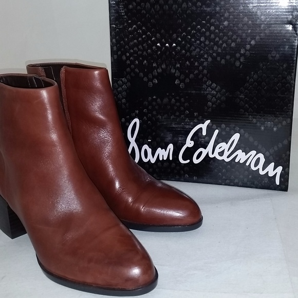 5cc53e065ff69 Sam Edelman Women s Joey Umber Leather Boot NEW