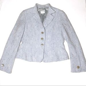 Armani Collezioni Blue Tweed Jacket