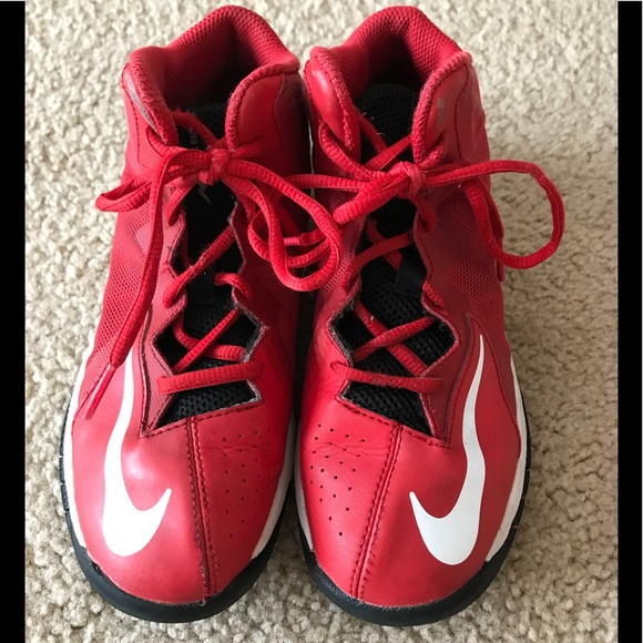 Boys red Nike shoes sneakers