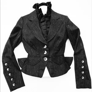 Gaetano Navarra Dramatic Fitted Ruffle Jacket 40