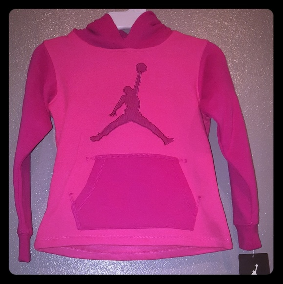 8417bf237b042 Girl's pink Jordan Hoodie. Never worn new with tag
