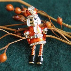 Jewelry - Nutcracker Enamel Brooch with Swinging Arms Legs