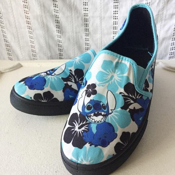 b339df503a6 Disney Shoes - Disney LILO   Stitch Canvas Slip On Sneakers 10