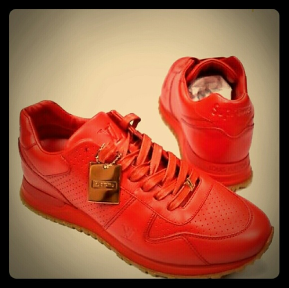 Red Louis Vuitton Supreme Edition Mens